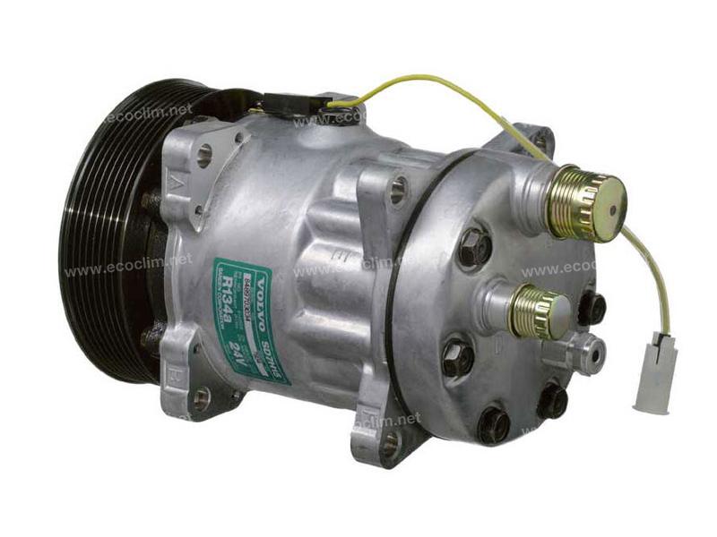 Compresseur Sanden Fixe R134a SD7H15 TYPE : SD7H15 | 8142555 | 32073 - 40450058 - 7834 - C8807388A