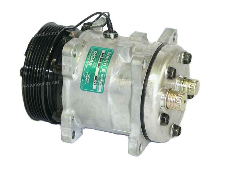 Compresseur Sanden Fixe R134a SD5H11 TYPE : SD5H11 |  | 6322 - UVK079