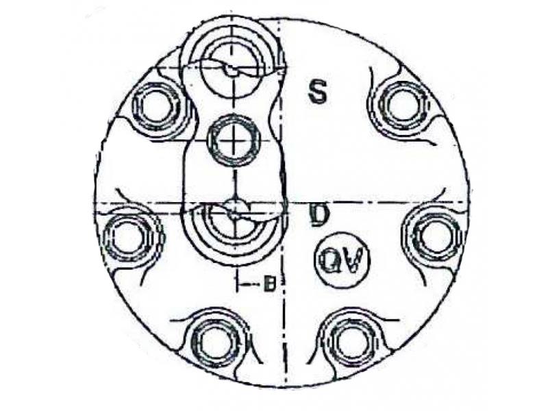 Compresseur Sanden Fixe R134a SD7H15 TYPE : SD7H15 | 7700106440 | 576262 - 8055