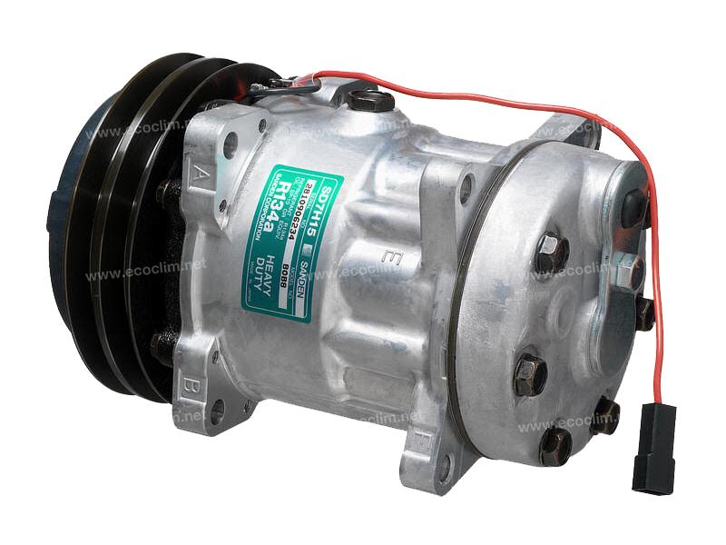 Compresseur Sanden Fixe R134a SD7H15 TYPE : SD7H15 | 3157920 - 3712528M2 - 3782613M2 | 78561 - 7952 - 8088 - CP031 - CP55561