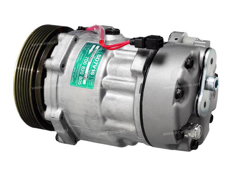 Compresseur Sanden Variable SD7V16 TYPE : SD7V16 | 7D0820805 | 32489G - 6209 - 699117 - 89061 - 8FK351127181 - 920.20129 - C8807463A - VWAK164