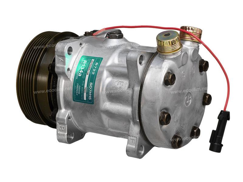 Compresseur Sanden Fixe R134a SD7H15 TYPE : SD7H15   60601070   1201804 - 67521 - 699114 - 7806 - 920.20004 - C8807260A - TSP0155054