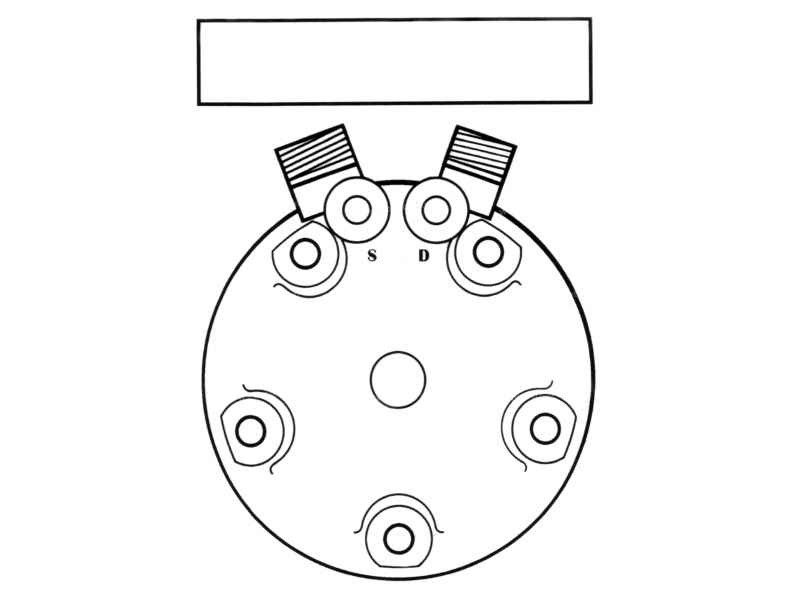 Compresseur Sanden Fixe R134a SD5H14 TYPE : SD5H14   6258771 - 6258790   4531 - 6625 - 6651 - 78554