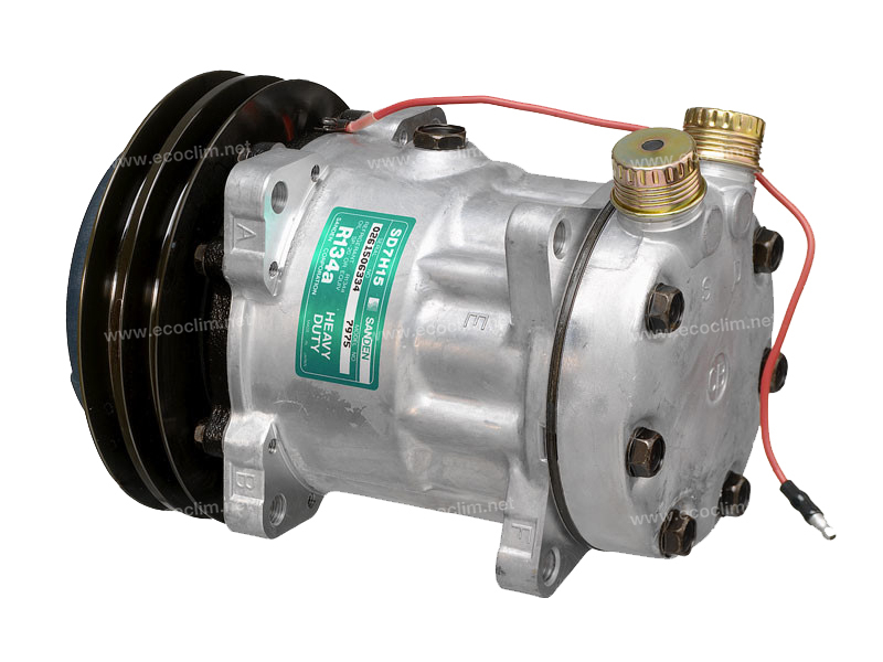Compresseur Sanden Fixe R134a SD7H15 TYPE : SD7H15 | 5596223 - 6259932 - 6259940 - 7700037805 | 78555 - 7975 - CP025