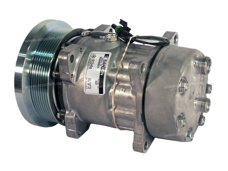 Compresseur Sanden Fixe R134a SD7H15 TYPE : SD7H15 | 89824775 | 32884G - 4637 - 78567 - C8807389 - CP00189 - CP115