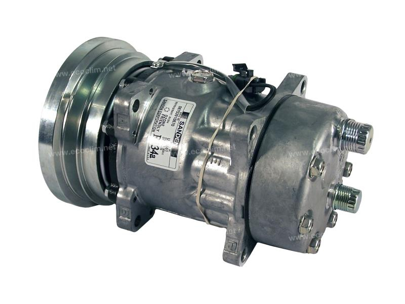 Compresseur Sanden Fixe R134a SD7H15 TYPE : SD7H15 | 1149487 - 3602390 | 1201502 - 4661 - 78572 - CP054