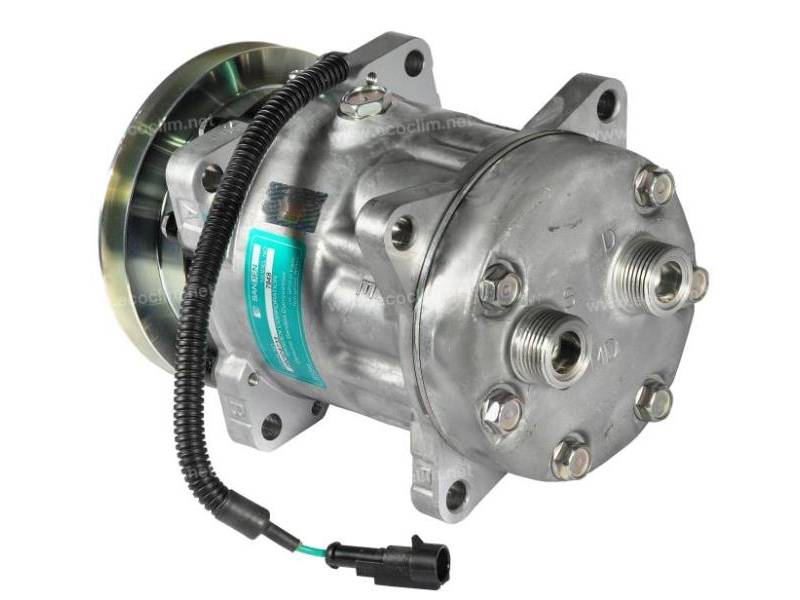 Compresseur Sanden Fixe R134a SD7H15 TYPE : SD7H15 | 76047005 - 98462948 | 40450035 - 7948 - 920.20009 - C8807277A - CP002 / CP083