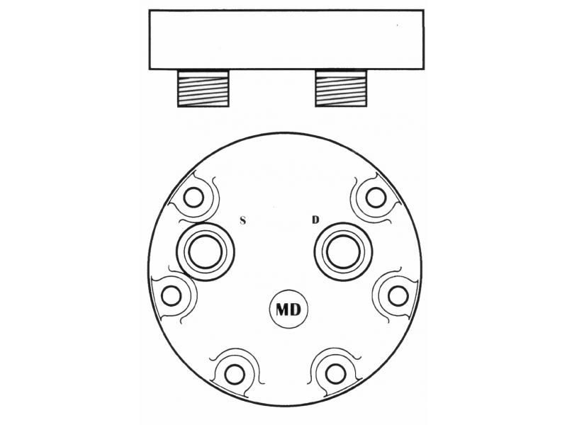 Compresseur Sanden Fixe R134a SD7H15 TYPE : SD7H15 | 4894306 - 714/40477 - 71440477 - 8500795 | 40405099 - 68145 - 8090 - 8144 - C8807333A - CP248