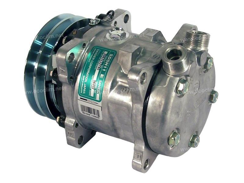 Compresseur Sanden Fixe R134a SD5H11 TYPE : SD5H11 |  | 1201581 - 5800053 - 6332 - C8807229A
