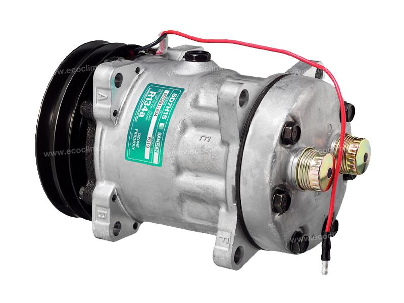Compresseur Sanden Fixe R134a SD7H15 TYPE : SD7H15      7819 - 8021 - C8807500A