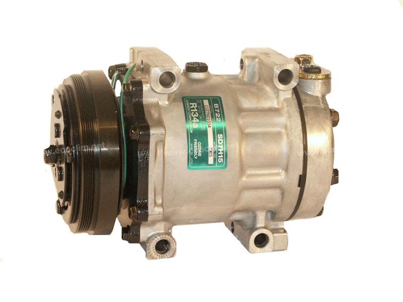 Compresseur Sanden Fixe R134a SD7H15 TYPE : SD7H15 | 4677344 - 60604347 | 1201805 - 68531 - 7841 - 7905 - 7977 - C8807269A - CP06001