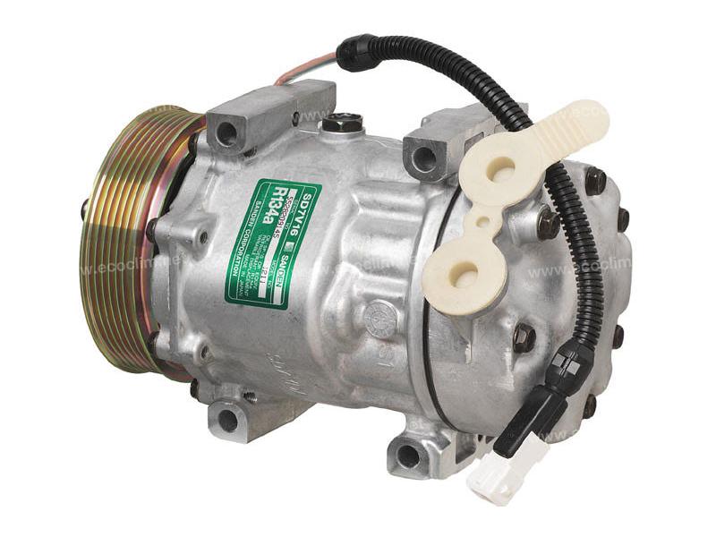 Compresseur Sanden Variable SD7V16 TYPE : SD7V16 | 6453CL - 71721765 - 9626902180 | 1211 - 1237 - 68584 - 699699 - 8FK351127371 - CP07003 - PEK036 - TSP0155273