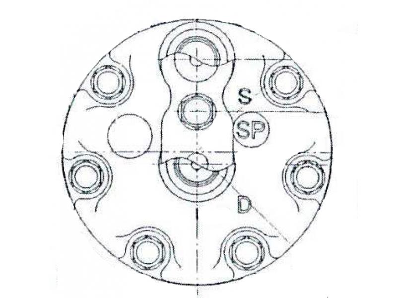 Compresseur Sanden Fixe R134a SD7H15 TYPE : SD7H15 | 7700300462 | 40405263 - 8005 - 920.20177 - C8807523