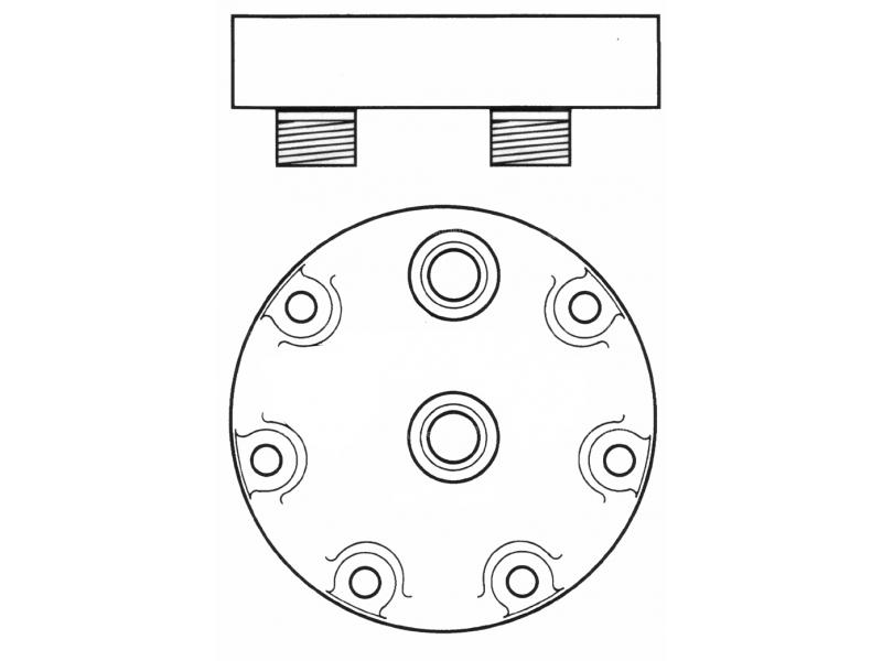 Compresseur Sanden Fixe R134a SD7H15 TYPE : SD7H15   5001852624 - 5010229065   7944
