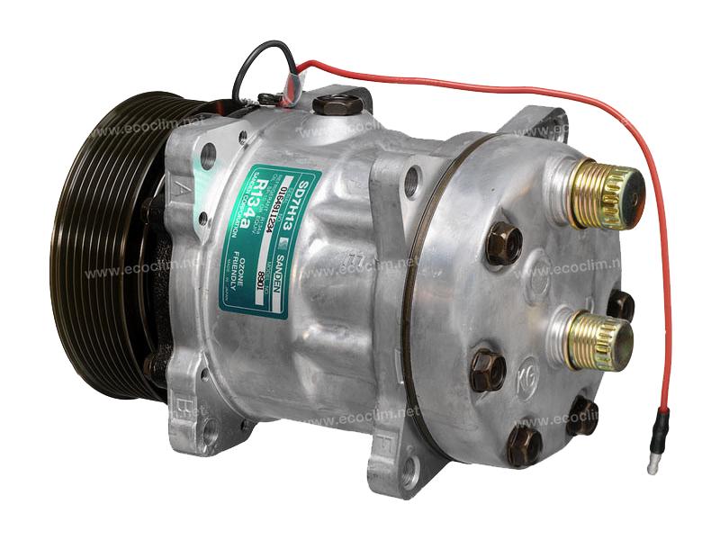 Compresseur Sanden Fixe R134a SD7H13 TYPE : SD7H13 | 84032734 - 84039022 - ER368212 | 7305 - 8403 - 8901 - C8807250A - CP073