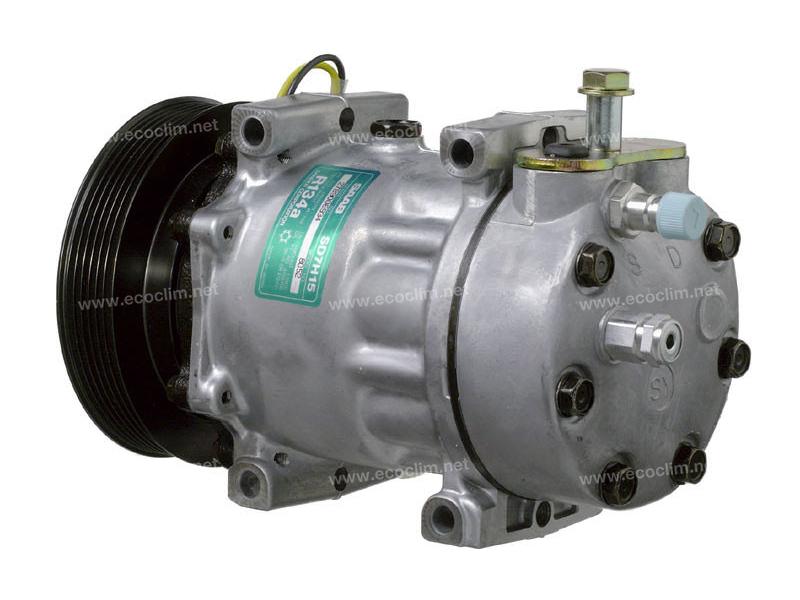 Compresseur Sanden Fixe R134a SD7H15 TYPE : SD7H15 | 4758181 - 4868659 | 7997 - 8052 - C8807427A
