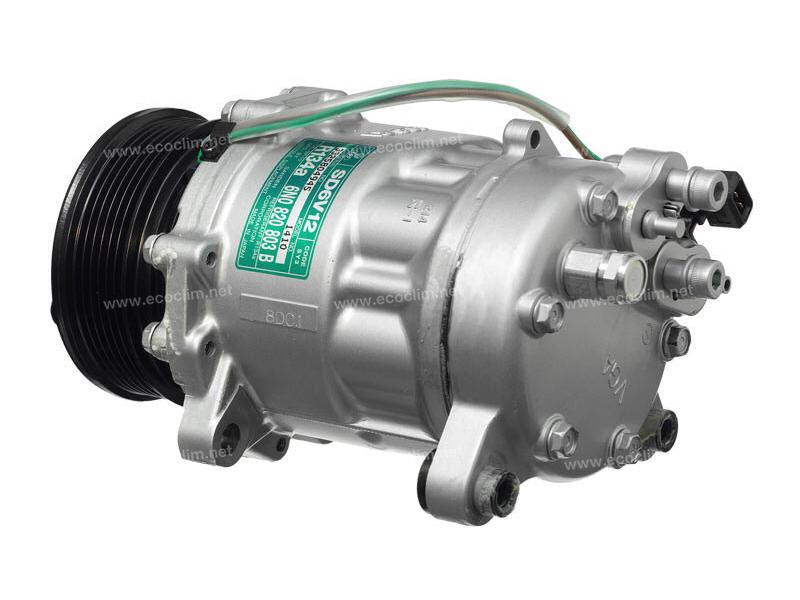 Compresseur Sanden Variable SD6V12 TYPE : SD6V12 | 6N0820803B | 1201764 - 1410 - 1454 - 40450051 - 699303 - 8FK351127391 - C8807361A - CP26007 - TSP0155243