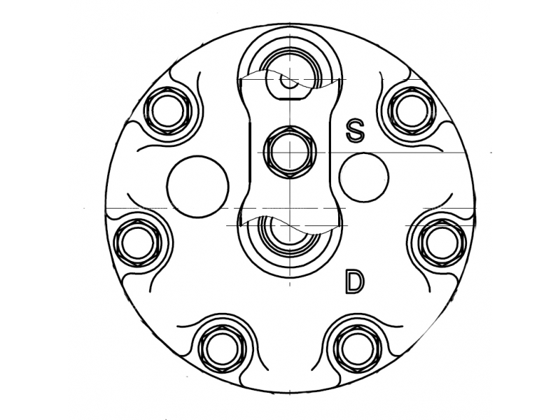 Compresseur Sanden Fixe R134a SD7H15 TYPE : SD7H15   30613970 - 30874923 - 7700872158 - 8200040681 - SMP262971   7983 - C880749991