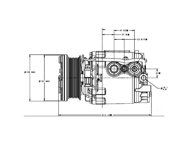 Compressor Visteon Complete compressor