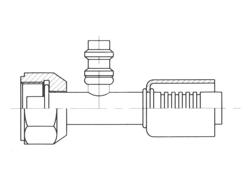 Raccord A sertir acier flexible standard Droit FEMELLE ORING PP R134a