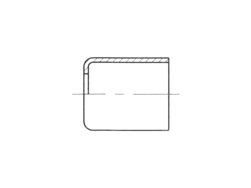 Raccord A sertir acier flexible standard Jupe