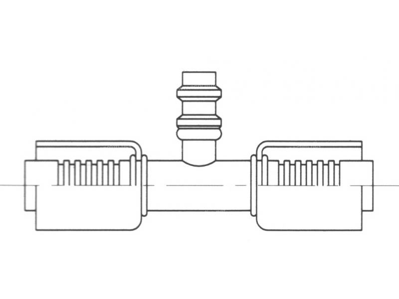 Raccord A sertir acier flexible standard Prise de pression PRISE DE PRESSION R134a