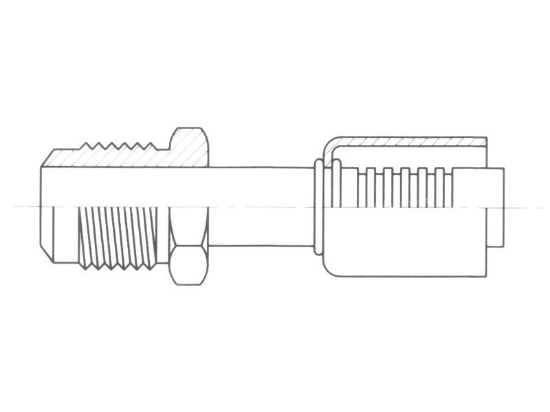 Raccord A sertir alu flexible standard Droit MALE FLARE