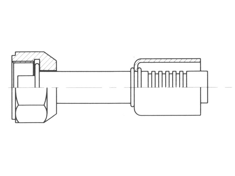 Raccord A sertir alu flexible standard Droit FEMELLE ORING