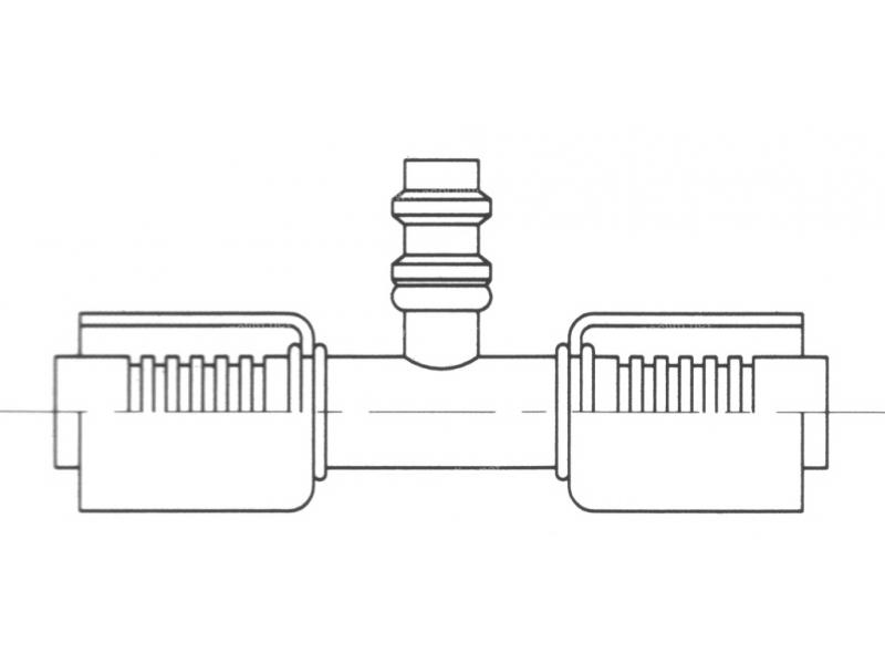 Raccord A sertir acier diamètre réduit Prise de pression PRISE DE PRESSION R134a