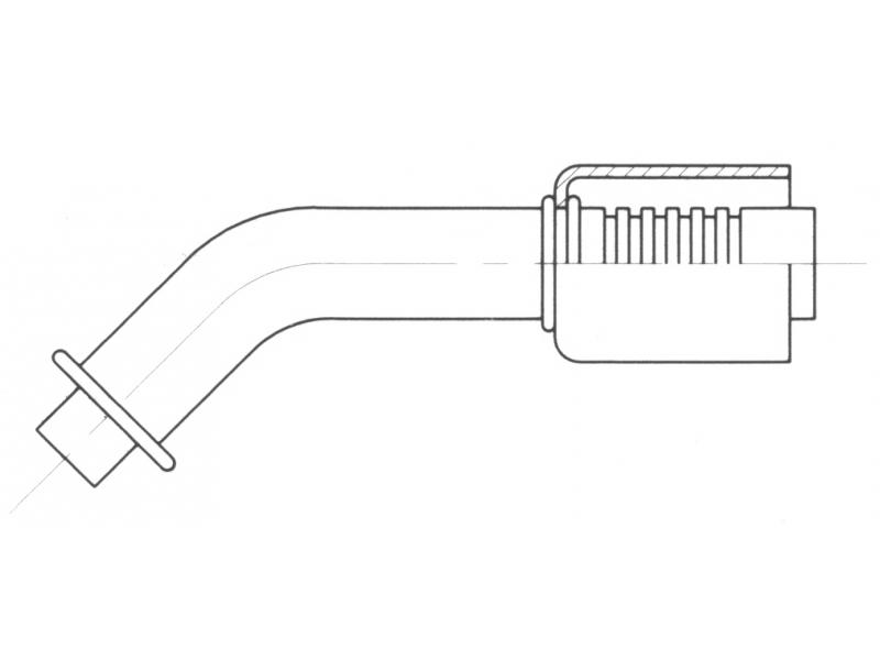 Raccord A sertir acier diamètre réduit 45° ORING BRIDE
