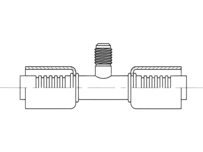 Raccord A sertir acier flexible standard Prise de pression PRISE DE PRESSION R12
