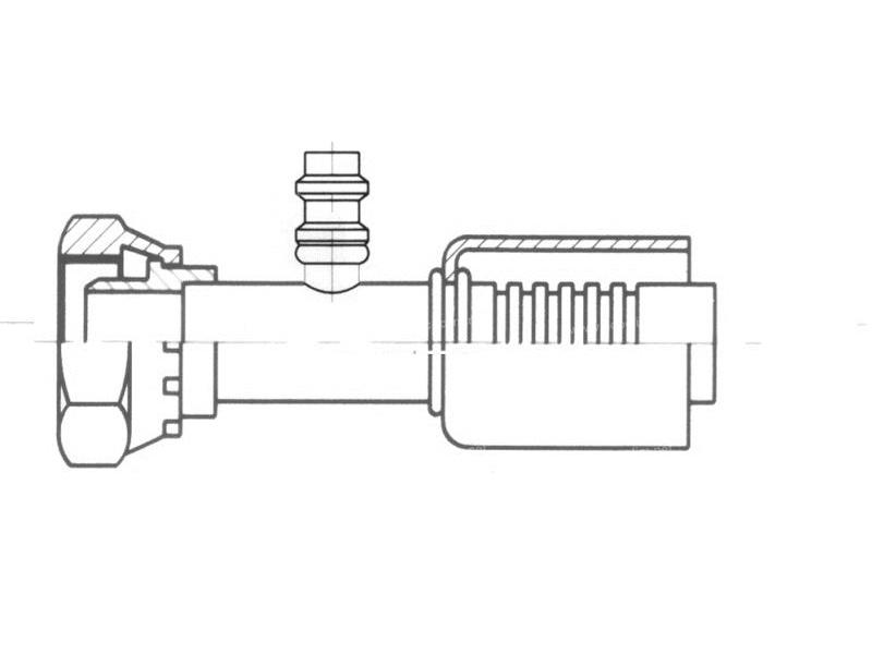 Raccord A sertir acier flexible standard Droit FEMELLE ORING 1'' + PP R134a