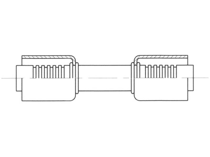 Raccord A sertir acier flexible standard Special REDUCTEUR