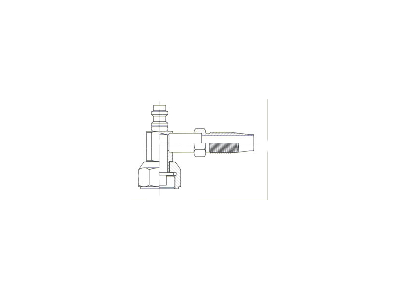 Raccord Réutilisable 90° FEMELLE ORING 1'' PP R134a