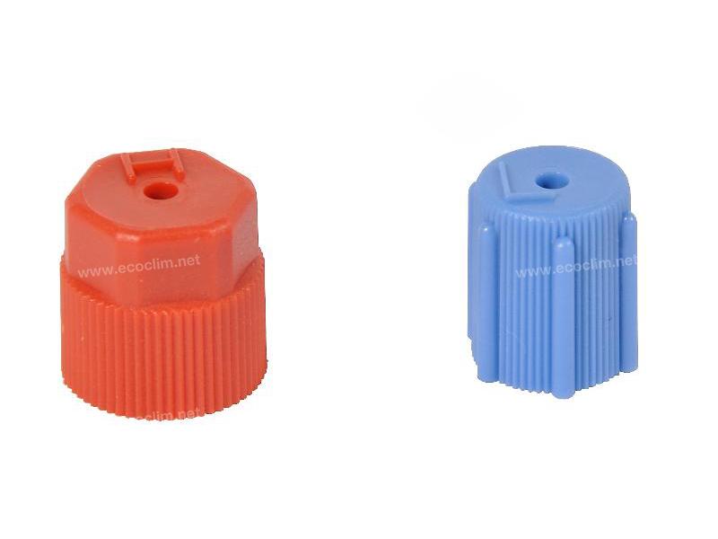 Outillage et consommable Bouchon et valve Bouchon HP R134A ROUGE