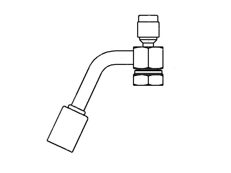 Raccord A sertir acier flexible standard Special FEMELLE ORING 1''