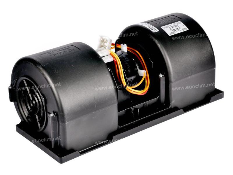 Diffusion d'air Soufflerie double turbine 12V SPAL 3 VITESSES