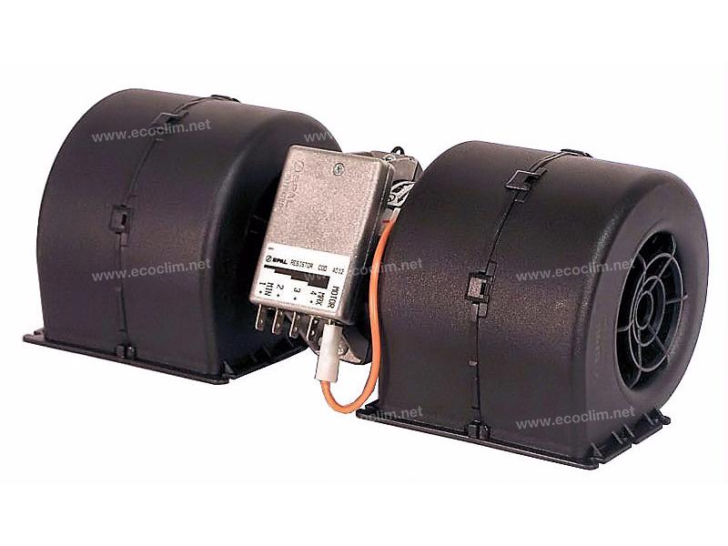 Diffusion d'air Soufflerie double turbine 24V SPAL 4 VITESSES