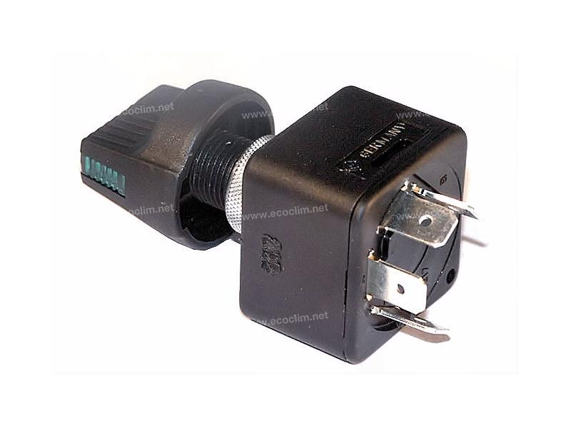 Composant électrique Sélecteur de vitesse ROTATIF 2 POSITIONS + BOUTON