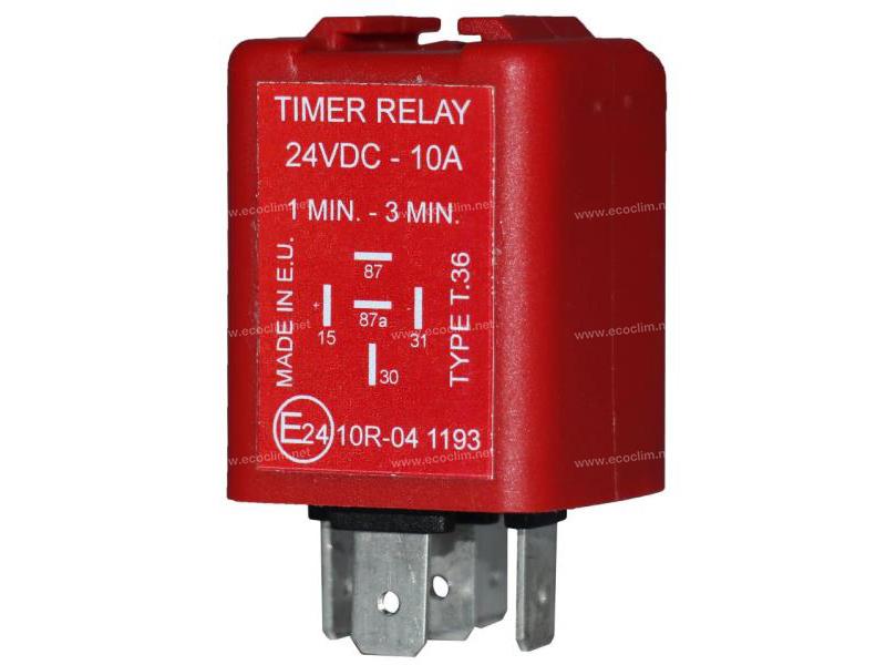 Composant électrique Relais TEMPO 24V PREREG 60 ON/180 OFF