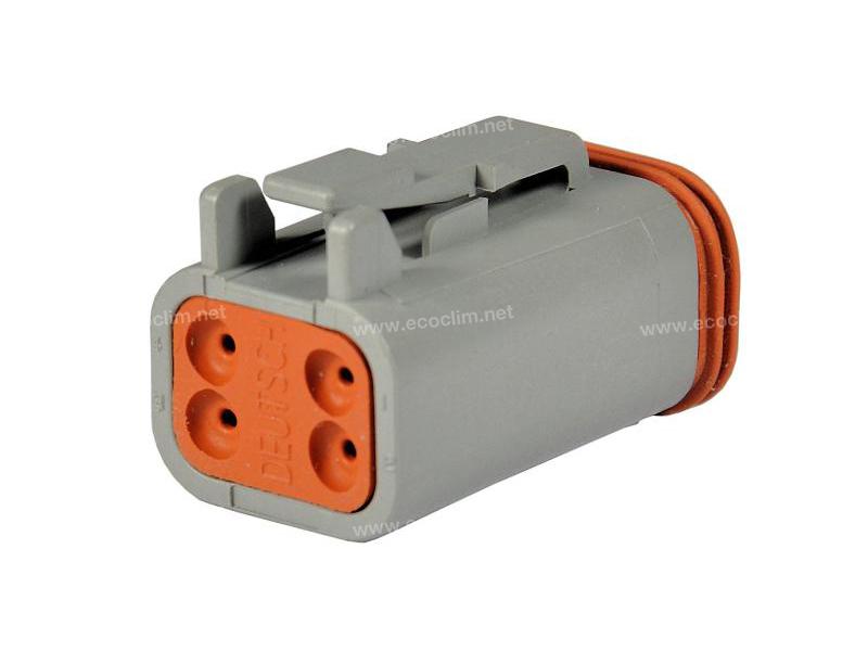 Composant électrique Connecteur DEUTSCH Connecteur FEMELLE 4 VOIES DT DT06-4S |  |
