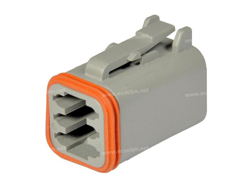 Composant électrique Connecteur DEUTSCH Connecteur PLUG 6 VOIES DT06-6S