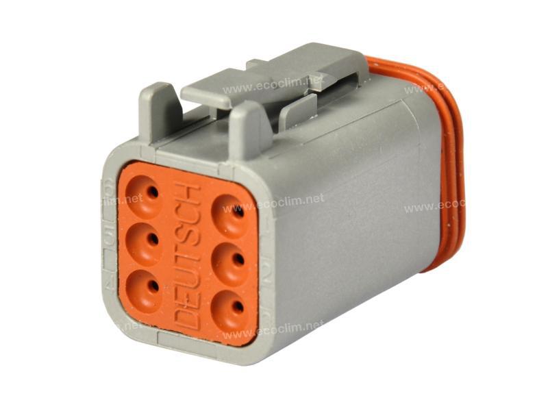 Composant électrique Connecteur DEUTSCH Connecteur PLUG 6 VOIES DT06-6S |  |
