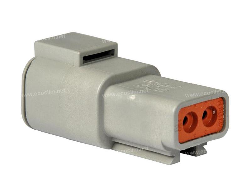 Composant électrique Connecteur DEUTSCH Receptacle RECEPTACLE 2 VOIES DTP04-2P |  |