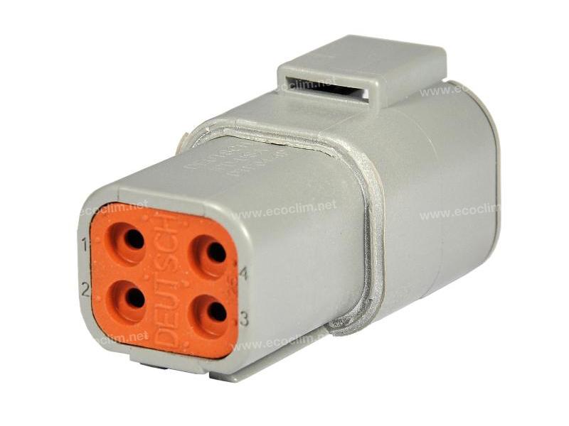 Composant électrique Connecteur DEUTSCH Receptacle 4 VOIES DTP04-4P |  |