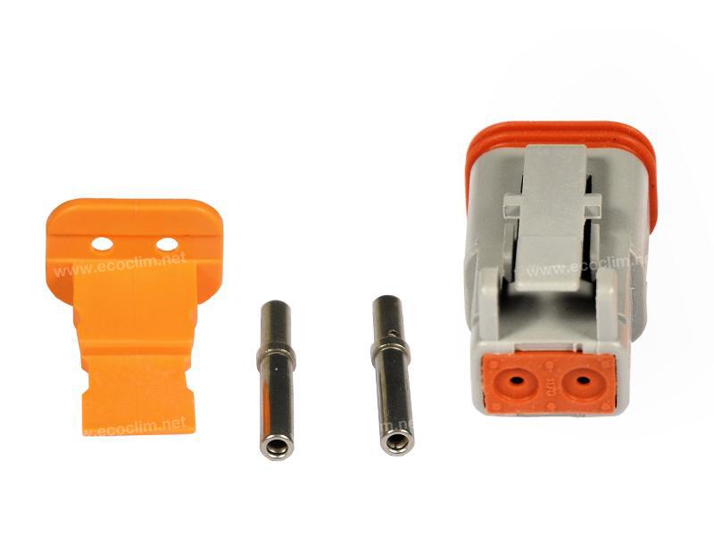 Composant électrique Connecteur DEUTSCH Kit 2 VOIES DT06-2S