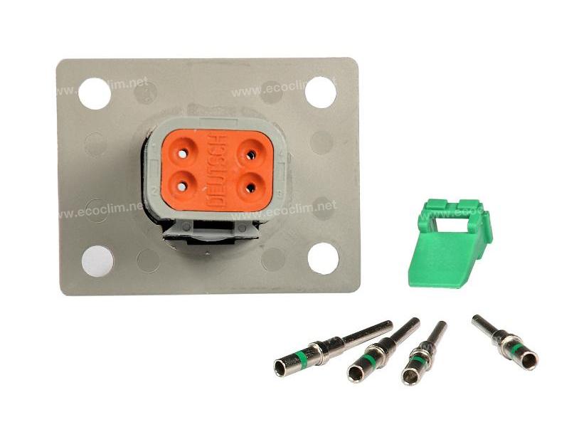 Composant électrique Connecteur DEUTSCH Kit 4 VOIES FLASQUE DT04-4P |  |