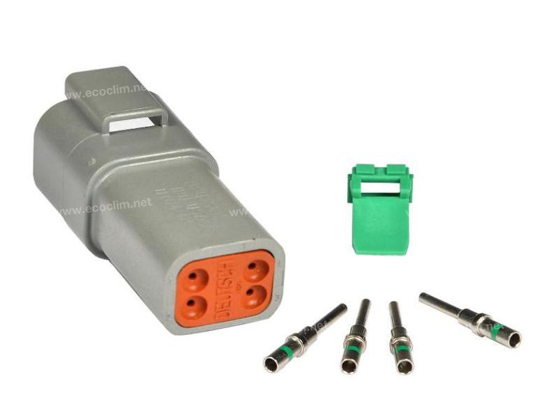 Composant électrique Connecteur DEUTSCH Kit 4 VOIES DT04-4P