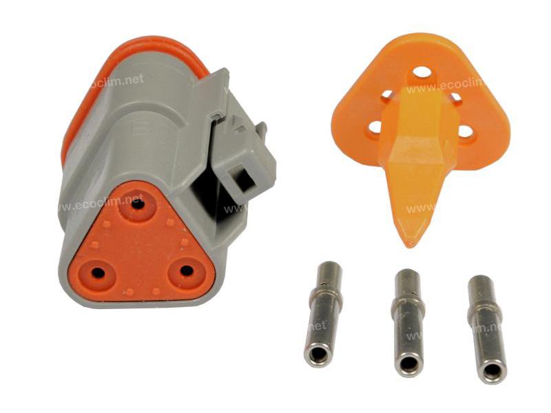 Composant électrique Connecteur DEUTSCH Kit 3 VOIES DT06-3S |  |