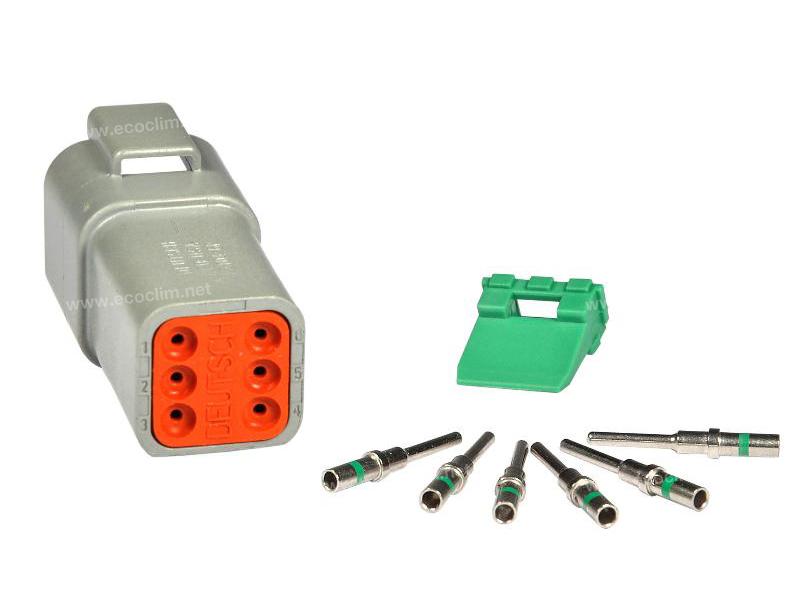 Composant électrique Connecteur DEUTSCH Kit 6 VOIES DT04-6P